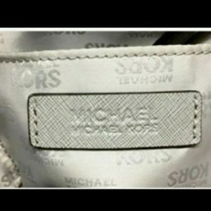 "Michael Kors Bags - Michael Kors Grey ""Hattie"" Leather Bowler Bag"
